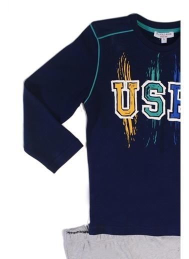 U.S. Polo Assn. Erkek Çocuk Pijama Takımı Lacivert